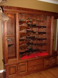 brand new custom cherry gun cabinet this cabinet holds 12 guns i